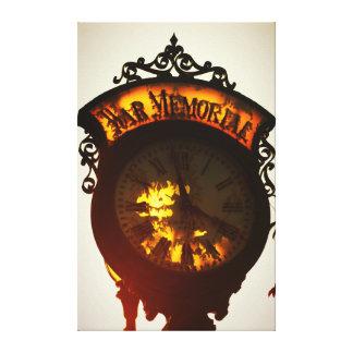 old Niles Michigan War Memorial clock Canvas Print