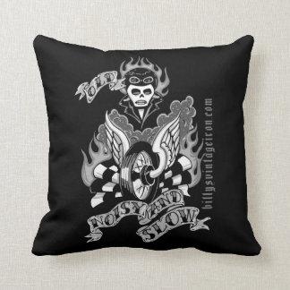 Old, Noisy & Slow (b & w) Throw Pillow