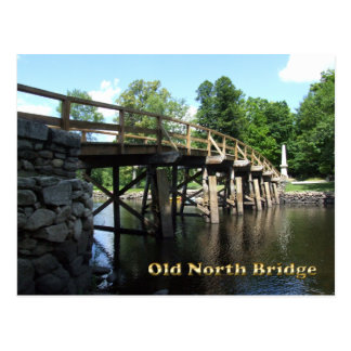 Old North Bridge - Revolutionary War Concord MA Postcard