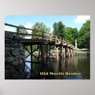 Old North Bridge - Revolutionary War Concord MA Poster