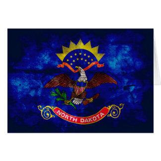 Old North Dakota Flag; Note Card