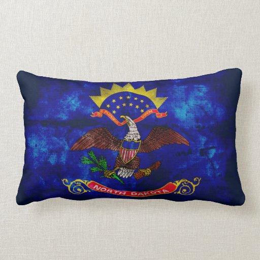 Old North Dakota Flag; Pillows