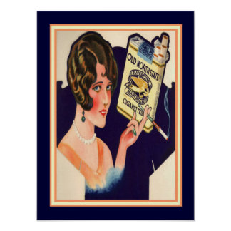 Old North State Cigarettes Vintage Ad 12 x 16 Poster