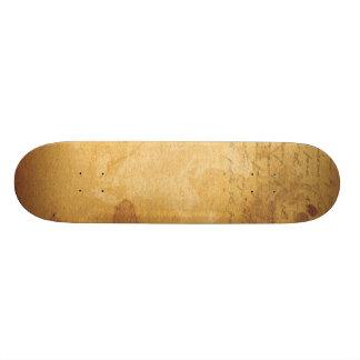 old note custom skateboard
