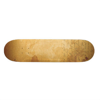 old note custom skateboard