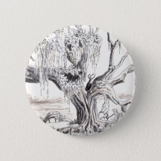 Old Oak Tree Buttton 2 Inch Round Button