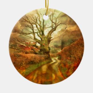 Old Oak Tree ....... Ceramic Ornament