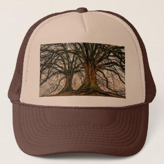 Old Oak Tree in Winter Trucker Hat
