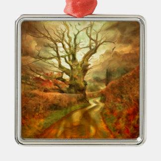 Old Oak Tree ....... Metal Ornament