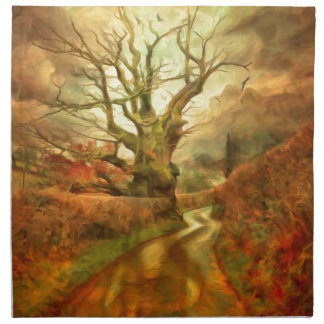 Old Oak Tree ....... Napkin