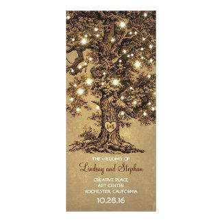 old oak tree rustic wedding programs rack card design