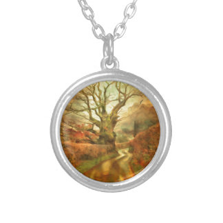 Old Oak Tree ....... Silver Plated Necklace
