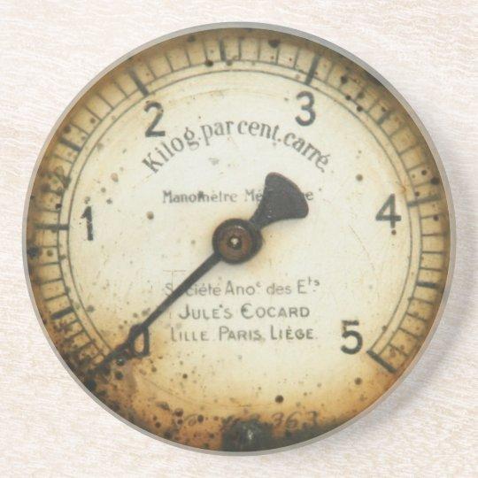 old oil pressure gauge / instrument / dial / metre coaster