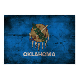 Old Oklahoma Flag; Poster
