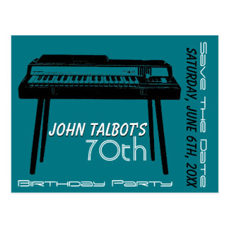 Old Organ 70th birthday Party Save the Date Postcard