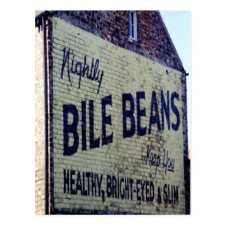 Old Painted Bile Beans Sign Postcard
