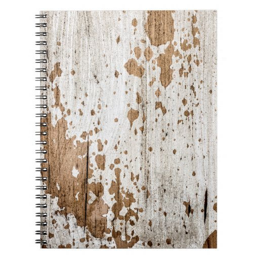 Old painted wood background note books