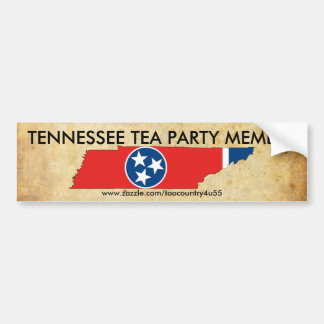 old_paper, 800px-Flag-map_of_Tennessee.svg, TEN... Bumper Sticker