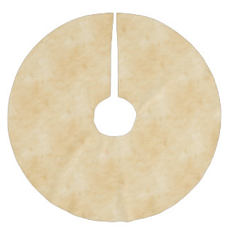 Old Parchment Background Stained Mottled Look Brushed Polyester Tree Skirt