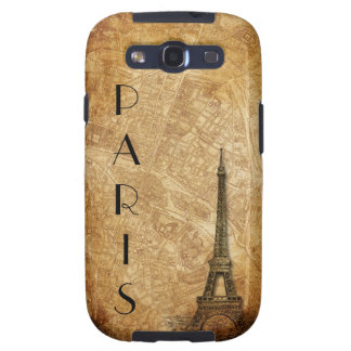 Old Paris Map and Eiffel Tower SIII Case