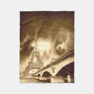 Old Paris Small Fleece Blanket