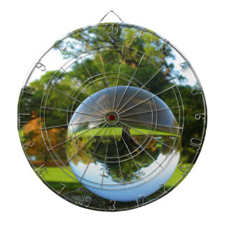Old Park Tree, crystal ball Dartboard With Darts