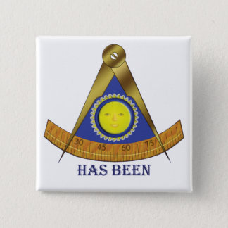 Old Past Master 2 Inch Square Button