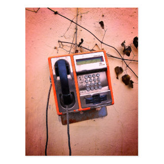 Old Payphone Still Life Postcard