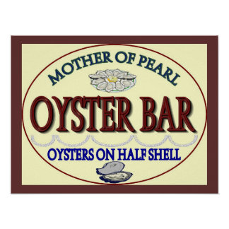 Old Pearl Oyster Bar Poster