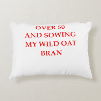 old person accent pillow