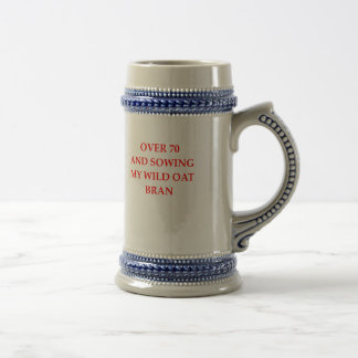 old person beer stein