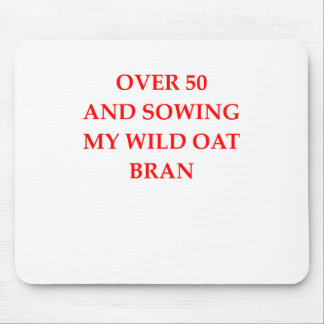 old person mouse pad