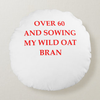 old person round pillow