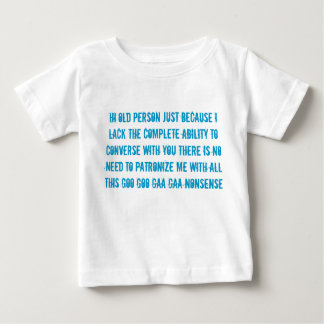 old person speech baby child's t shirt
