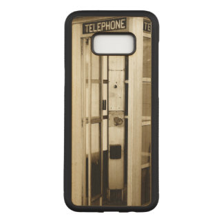 Old Phone Booth Carved Samsung Galaxy S8+ Case