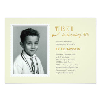 Old Photo Surprise Birthday Invitations - Light