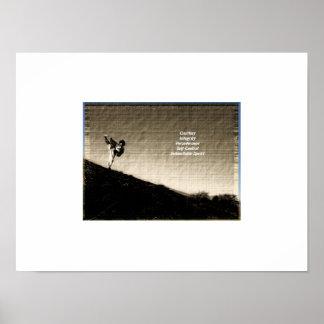 'Old photo' Taekwondo tenets poster