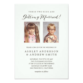 Old Photos Light Colored Wedding Invitation