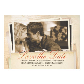 Old photos - Save the Date card