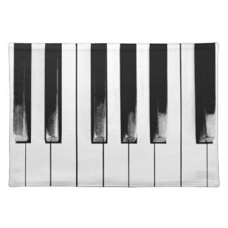 Old Piano Keys Funny Cool Placemat