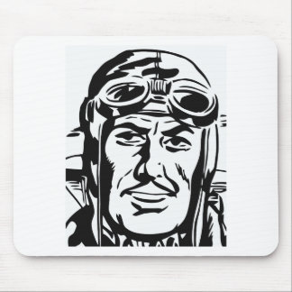 Old pilot mouse pad