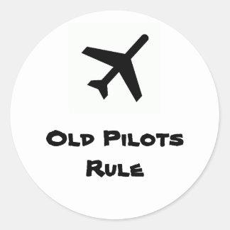 Old Pilots Rule Sticker