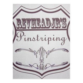 old pinstripe logo postcard