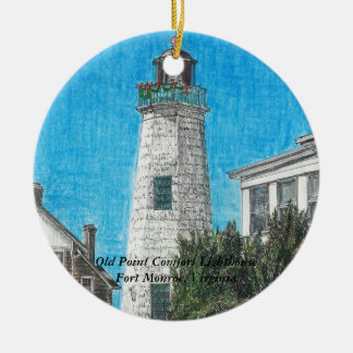 Old Point Comfort Lighthouse Ceramic Ornament