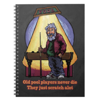 Old Pool players Spiral Notebooks