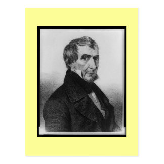 Old portrait, William Henry Harrison Postcard