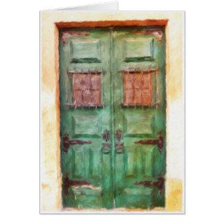 Old Portuguese door blank card