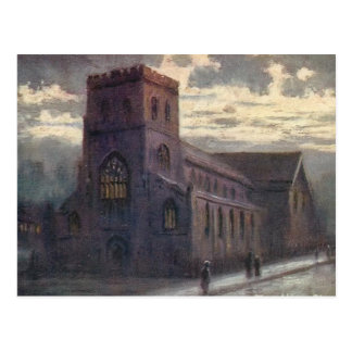Old Postcard - Abbey Church, Shrewsbury