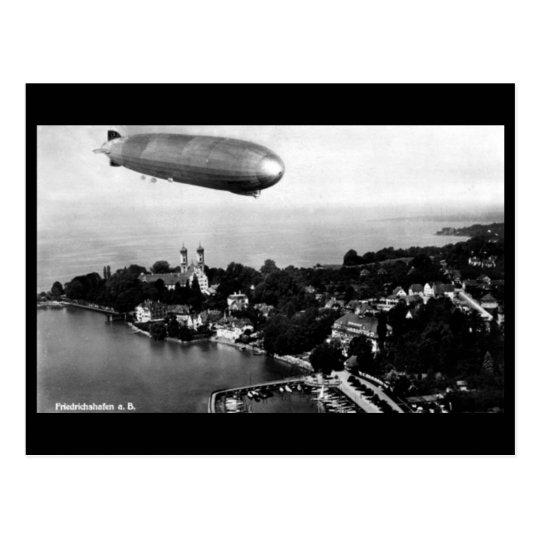 Old Postcard - Airship over Friedrichshafen