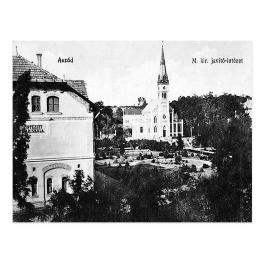 Old Postcard - Aszód, Hungary.